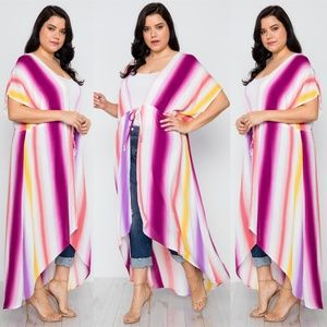 Other - New!  PLUS SIZE MULTI PURPLE KIMONO COVER UP